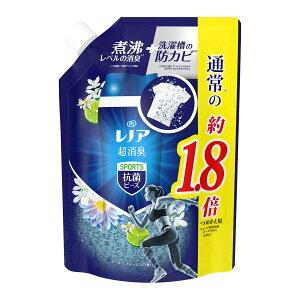 【送料込・まとめ買い×5個セット】P&G レノア 超消臭 スポーツ 抗菌ビーズ クールリフレッシュ つめかえ用 特大サイズ 760ml