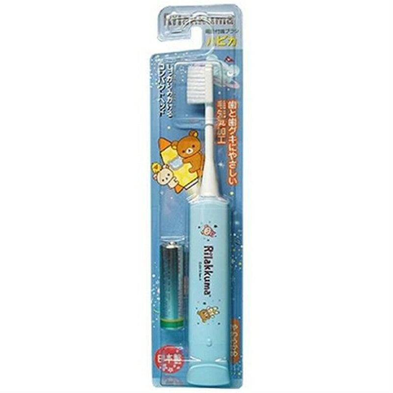 【まとめ買い×6】ミニマム minimum ハピカ 電動付ハブラシ 電池付 リラックマ ブルー DB-5B(RK)N(歯ブラシ 電動歯ブラシ)×6点セット(4961691104483)
