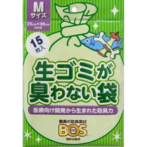 クリロン化成 BOS(ボス) 生ごみが臭わない袋 Mサイズ 15枚 (4560224462252)