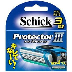 シック・ジャパン シック プロテクタースリー 替刃 4コ入 (カミソリ 3枚刃 替え刃)(4891228303839)