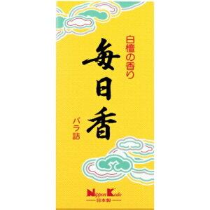 【送料込・まとめ買い×7点セット】日本香堂 毎日香 小型 バラ 約70g (仏具用品 お線香)(4902125108011)