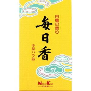 【送料込・まとめ買い×6点セット】日本香堂 毎日香 中型 バラ 150g (仏具用品 線香)(4902125108028)