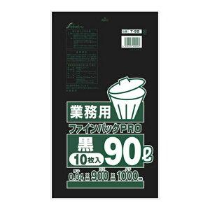 【送料込・まとめ買い×6点セット】T-092 業務用 ファインパックPRO 90L 黒 ( 4976797120923 )