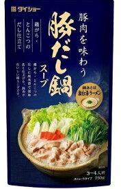 【送料込】ダイショー  豚だし鍋スープ   750g ×10個セット ( 4904621042103 ) ( 食品・調味料・だし )