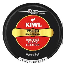 【送料無料・まとめ買い×3】ジョンソン キィウイ KIWI 油性靴クリーム缶入 ブラック 45ml (靴のケア 保革剤)×3点セット(4968306479585)