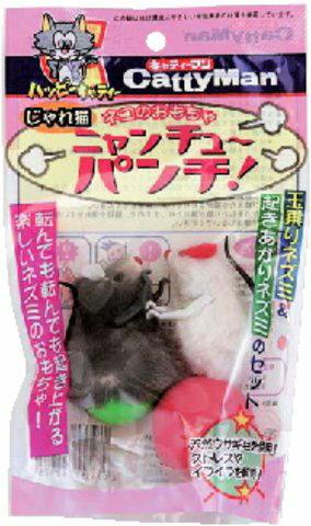 ドギーマンハヤシ じゃれ猫 ニャンチューパンチ ( ペット用品 ネコのおもちゃ ) ( 4976555842975 )