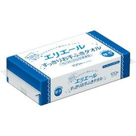 大王製紙 エリエール すっきりお手ふきタオル シングル 100枚入 ( ペーパーハンドタオル ) (4902011702897 )