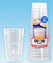 日本迪克西透明的塑膠杯 420 毫升 (: 10)