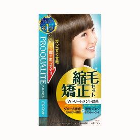 プロカリテ 縮毛矯正セット 1組 第1剤100g、第2剤100g、ヘアトリートメント20g、洗い流さないヘアトリートメント8g*3回分 医薬部外品 ( ストレートパーマ液 ) ( 4901234355811 )