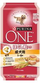ピュリナワン ドッグ ほぐし粒入り 1〜6歳 成犬用チキン 4.2KG (4902201206501)