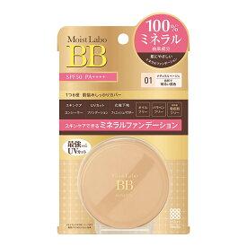 明色化粧品 モイストラボ BBミネラルファンデーション 01 ナチュラルベージュ 6G SPF50/PA++++ ( 4902468232176 )