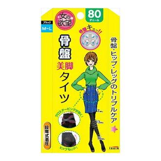 여자의 욕망 골반 서포트 설계세각타이츠 80 디닐 M-L블랙(착압타이츠)×120점 세트(4545633024123)