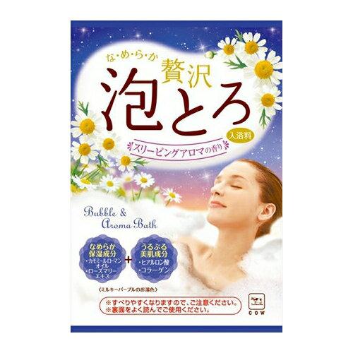 【牛乳石鹸】【お湯物語泡とろ】お湯物語 贅沢泡とろ スリーピングアロマの香り 30G ( お風呂 入浴剤 1回分 ) ( 4901525005203 )