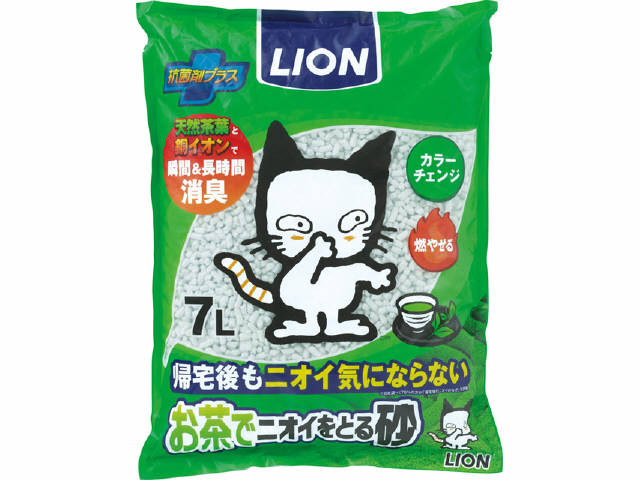 ライオン商事 お茶でニオイをとる砂 7L ( ペット用品 猫砂 ) ( 4903351061002 )