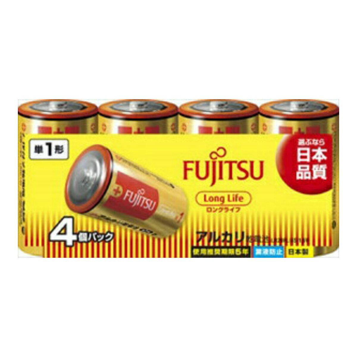 【勤労感謝の日セール!】 富士通 FUJITSU アルカリ乾電池 単一 4本パック ロングライフLongLifeー単1・4個 LR20FL ( 4S ) ( 4976680276003 )