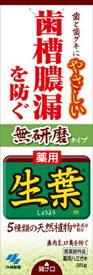 【小林製薬】【シヨウヨウ】生葉 無研磨タイプ 95g 無研磨タイプの薬用ハミガキ 医薬部外品 ( 4987072036655 )