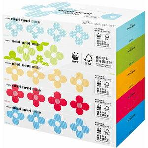 【日替わりスーパーセール】ネピア ネピネピメイト ティシュ ボックス 300枚 ( 150組 ) ×5箱パック ( ティッシュペーパー 箱 ) ( 4901121179032 )※お一人様最大2点限り
