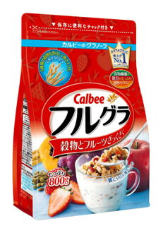 [Free delivery] Calbee (Calbee) Cereal 800g × 6  (food, snacks, cereal food) (4901330740672)