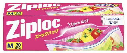 【週末限定!スーパーフライデーSale!3/16〜】 旭化成 ジップロック ストックバッグ Mサイズ 20枚入 冷蔵・常温保存用袋 ( 4901670111248 )