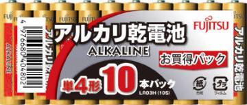 【勤労感謝の日セール!】 富士通 アルカリ単4×10個 LR03H ( 乾電池 単四 ) ( 4976680404802 )