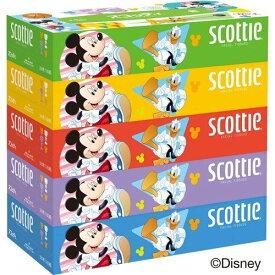 【数量限定】クレシア スコッティ ティシュー ディズニー 160組×5箱パック(4901750412937)※パッケージ変更の場合あり 無くなり次第終了