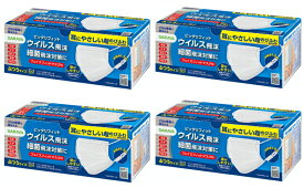 【送料込・まとめ買い×4】サラヤ フェイスフィットマスク ふつう 50枚入×4点セット(計200枚 不織布マスク)(4973512512780)※パッケージ変更の場合あり