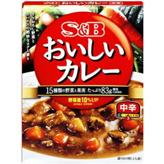 Delicious curry moderately hot 180 g *36 set (4901002136727) of the S & B assent