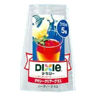 일본 デキシー 클리어 글래스 (파티) 310ml (내용량: 5 개) × 120 점 세트 (4902172024012)