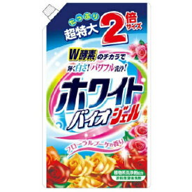 【令和・ステイホームSALE】【大容量】日本合成洗剤 ホワイトバイオジェル 大容量 詰替 1620g(衣類用液体洗剤 つめかえ)( 4904112828148 )