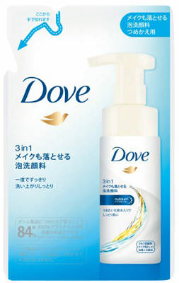 ユニリーバ ダヴ 3in1 メイクも落とせる泡洗顔料 つめかえ用 120ml ( タブ DOVE 詰め替え)( 4902111736921 )