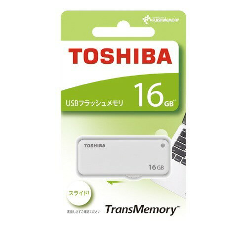 東芝 USBフラッシュメモリ TransMemory UKB-2A016GW(1コ入)