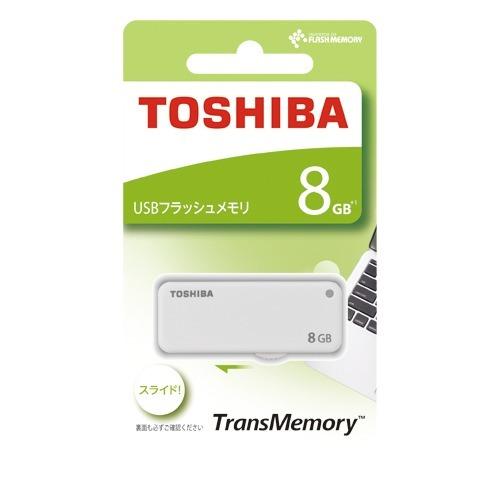 東芝 USBフラッシュメモリ TransMemory UKB-2A008GW(1コ入)