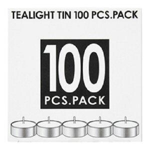 【送料無料】カメヤマティーライトティン100個入植物原料(パームオイル)50%配合(ろうそくキャンドル)