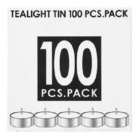 カメヤマ ティーライトティン 100個入 植物原料 ( パームオイル ) 50%配合 ( ろうそく キャンドル ) ( 4901435902586 )
