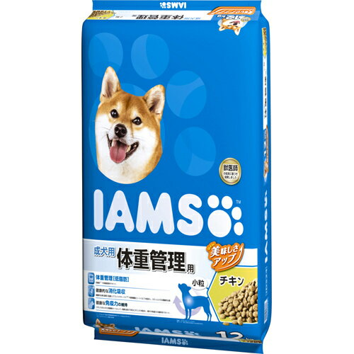 【メーカー直送・代引不可・同梱不可】 【マースジャパンリミテッド】 アイムス 成犬用 体重管理用 チキン 小粒 12kg