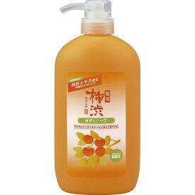 【令和・ステイホームSALE】熊野油脂 薬用柿渋ボディソープ ボトル 600ML 本体 弱酸性  ニオイのもとを殺菌・消毒。体臭、汗臭を防ぐボディ用石けん ( 4513574018884 )