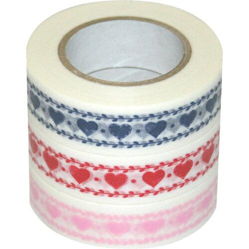 【メーカー直送・代引不可・同梱不可】 【ナカバヤシ】 D tape 印刷柄マスキングテープ 15mm 3本パック CH DT15-3P-15