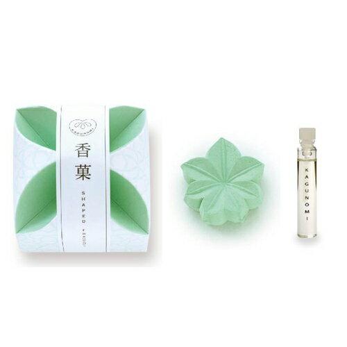 日本香堂 香菓 ( かぐのみ ) 「もみじ形 ( 緑色 ) 1入 オイル付」(4902125387041)