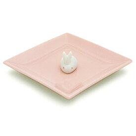 日本香堂 陶器香皿&ウサギ香立 ピンク(4902125975248)