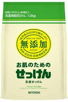 ミヨシ 비누 무 첨가 피부를 위한 세탁 용 가루 비누 1000G× 6 점 세트 숟가락 들 (의류 √ 피부 케어 용 가루 비누) (4537130102237)