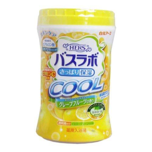 白元 HERSバスラボ ボトル クールグレープフルーツの香り ( 内容量:640G ) ( お風呂 入浴剤 ) ( 4901559226261 )