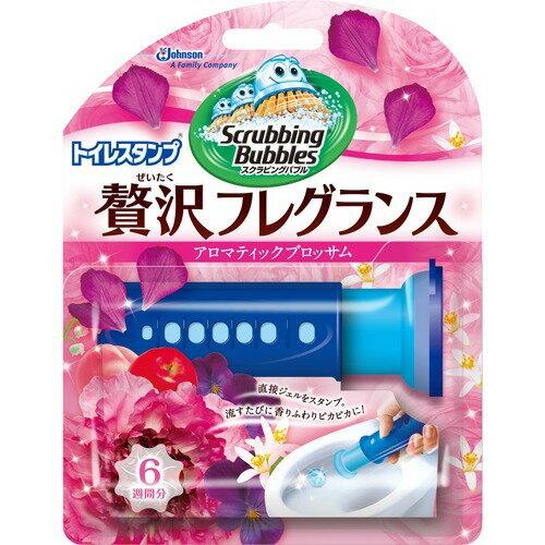 ジョンソン スクラビングバブル  トイレスタンプ ぜいたくフレグランス アロマティックブロッサムの香り 38G(洗浄剤 トイレ用) ( 4901609007871 )