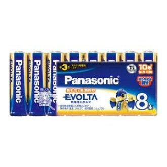 Panasonic alkaline battery EVOLTA (evolta) 単3-8 this LR6EJ/8SW (AA batteries) (4984824811386)