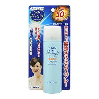 로트 제약 SKIN AQUA (스킨 아쿠아) 사라 핏 UV 졸졸 스프레이 무 향료 (내용량: 50G) × 5 점 세트 (4987241146277)