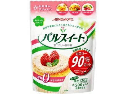 【訳ありアウトレット】味の素 パルスイート 袋入り 120g ( 砂糖と同じ甘さでカロリー90%カット・糖類ゼロ ) ( 4901001139477 )※無くなり次第終了