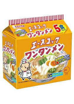 【送料無料】エースコック ワンタン麺 5食パック×6点セット ( 計30食 ) まとめ買い特価!ケース販売 ( 袋入り麺 雲呑ラーメン ) ( 4901071199012 )
