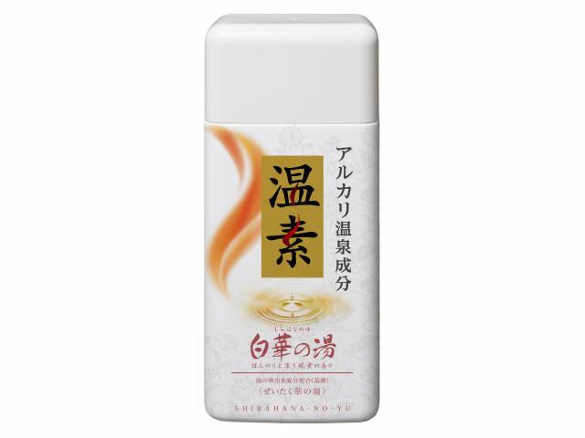 【人気の品】アース製薬 温素 白華の湯 600g 本体 医薬部外品 白く輝くなめらかな「硫黄の湯」の極上の湯ざわりを追求した入浴剤(4901080555311)