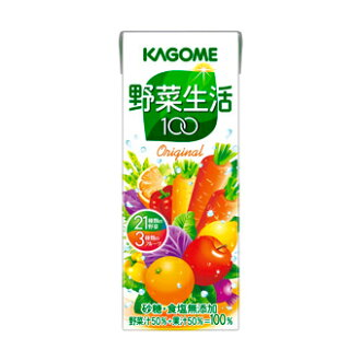 Kagome vegetable life 100 original 200ml×24 this set together buy bargain! Case sales (vegetable juice cartons and raw live)