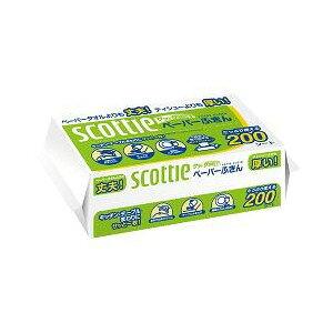 【送料込・まとめ買い×5点セット】日本製紙クレシア スコッティ ペーパーふきんサッとサッと 400枚 ( 200組 ) 2枚重ねのソフトタイプ ( 4901750378202 )
