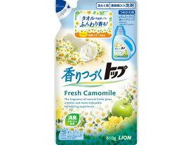【送料込】ライオン トップ 香りつづくトップ Fresh Camomile つめかえ用 810g ( 液体衣料用洗剤 ) ※2014年夏の新製品×12点セット まとめ買い特価!ケース販売 ( 4903301215745 )
